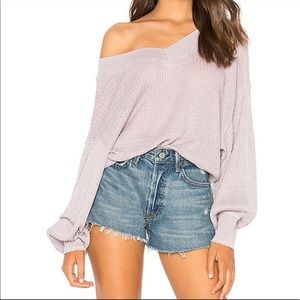 Free People south side light purple thermal